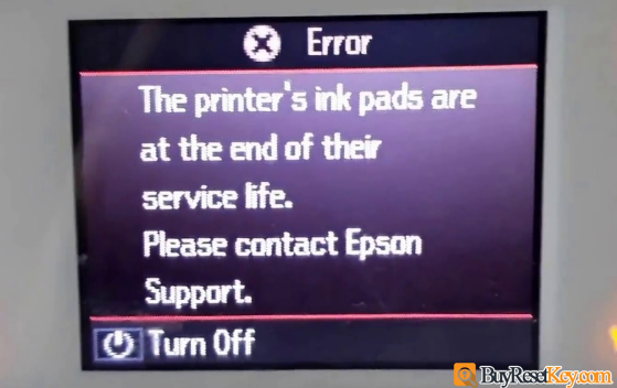 The Printer's Ink Pads at the end of Their service life. Please contact Epson Support