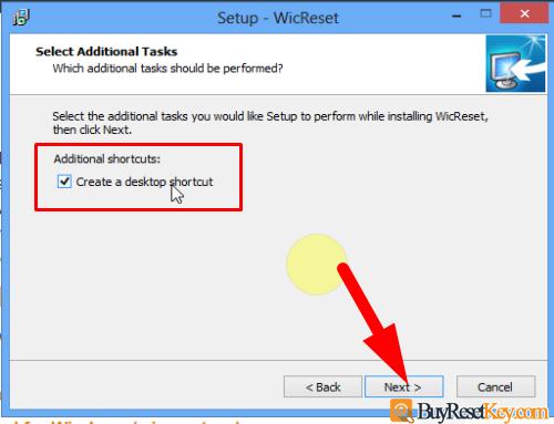 create wicreset tool desktop shortcut