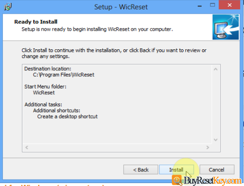click install to install wicreset tool