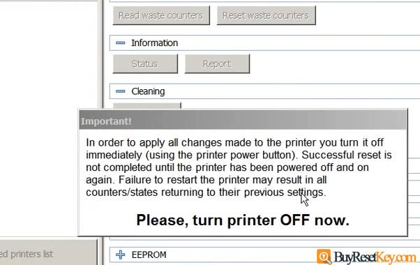 restart epson printer